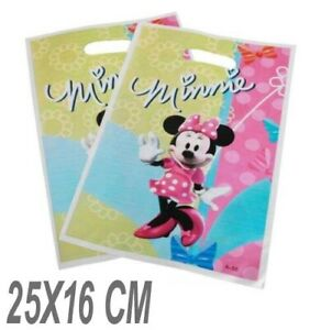12 X Disney MINNIE MOUSE CANDY bags party favors gift bag loot goody 25X16 CM UK