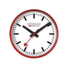 Mondaine Large White Face Red Case Wall Clock A995.CLOCK.11SBC 400mm £315
