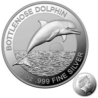 Australia 2019 Bottlenose Dolphin $5 High Relief Silver Proof Coin RAM Limited
