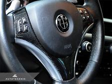 AUTOTECKNIC CARBON FIBER STEERING WHEEL TRIM - BMW E90 E92 WITH METALLIC TRIM