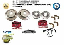 FOR PORSCHE BOXSTER 2.7 1999-2004 FRONT + REAR DRILLED BRAKE DISC SET + PADS KIT