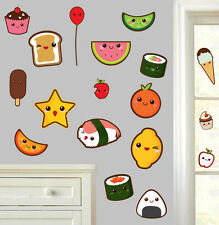 Mignon kawaii foods-pack de 18-mur art vinyle autocollants japon japonais decals