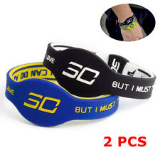 NBA Stephen Curry Wristband Bracelet Silicone Wrist Band Rubber Chef Curry 2pcs