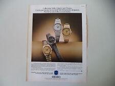 advertising Pubblicità 1979 OROLOGI SEIKO QUARTZ