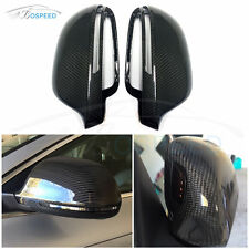 Carbon Fiber Replacement Mirror Covers Side Assist for Audi A4 A5 A6 C6 A8 S8 Q3