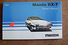 1987 mazda rx 7 owners manual  original new with used case