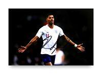 BENT Marcus Rashford Signed 6x4 Photo Manchester United England Autograph + COA