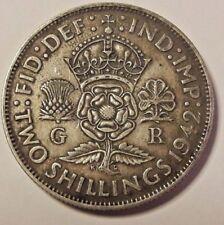 1942 George VI Silver (.500) 2 Shillings KM# 855 Argent