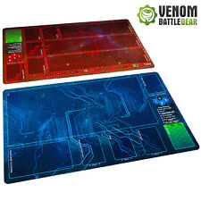 Android Netrunner LCG  Playmats Corp & Runner RED/BLUE set Fabric Rubber backed