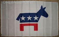 3'x5' Democratic Party Flag DNC Political Presidential Elections Democrat 3X5
