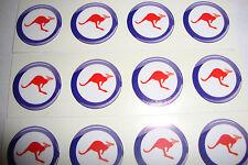 "Australia 12 Kangaroo Prato Bocce Adesivi 1 ""Corona Verde Bocce flatgreen INDOOR"