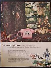 1958 General Telephone Pink Dial Phone In The Woods Advertisement