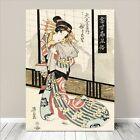 "Beautiful Japanese GEISHA Art ~ CANVAS PRINT 36x24"" Courtisan in Kimono #179"