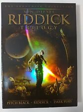 Video DVD - The Riddick Trilogy Holographic Cover 3 Disc - NEW Open WORLDWIDE