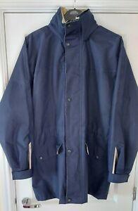 Rare, Original, Vintage Puffa Mens 1990s Blue Puffa Coat - Jacket (M)