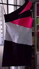 TOP TEN Color Block One Shoulder Bandage Dress-Size Extra Small/Small/Medium