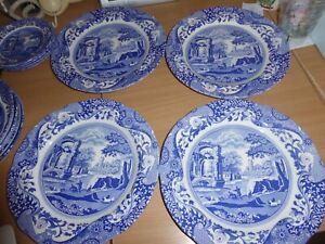 BNWT Spode Blue Italian 4 dinner plates  brand new