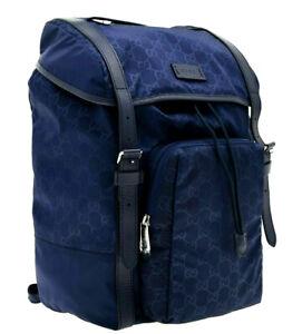 Gucci Backpack Nylon GG Guccissima Blue New