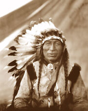 CHIEF IRON TAIL 1905 OGLALA LAKOTA NATIVE AMERICAN SEPIA PHOTO