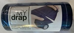 One (1) NEW Roll My Drap 100% Cotton Cocktail Napkins-Midnight Blue