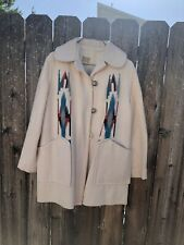Beautiful Vintage Southwestern Indian Hand Made Wool Coat.  Women's Size 10