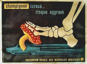 Original vintage poster HIGH SPEED SAVETY RISK BONES c.1950