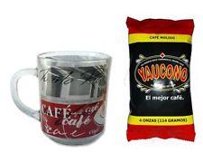 Lot of Puerto Rico Crystal Coffee Mug and 4oz Yaucono Groung Coffee FREE SHIP #2