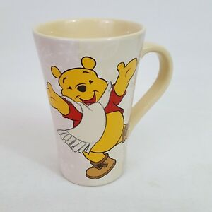 Disney Store Exclusive Winnie The Pooh Tall Character Christmas Mug Snow Glitter