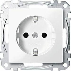 MERTEN System M M-Pure Polarweiß glänzend Rahmen Schalter Steckdosen M-Smart 1-M