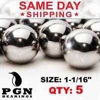 "1-1/16"" Inch (27 mm) Pinball Replacement Steel Balls G100 - 5 PCS"