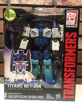 Transformers TITANS RETURN DREADNAUT & OVERLORD Leader Class, New