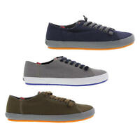 Camper Peu Rambla 18869 Mens Blue Green Grey Canvas Trainer Shoes Size 8-11