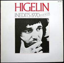 JACQUES HIGELIN INEDITS 1970 EXEMPLAIRE PROMO 33T LP SARAVAH SHL 1087