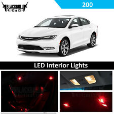Red Interior LED Lights Package Accessories Kit fits 2015-2017 Chrysler 200