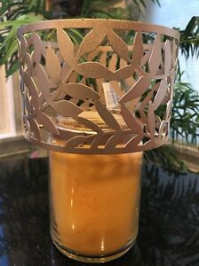 Yankee Candle Shade Topper Medium Large Jar Candle Olive Tendril Gold Bronze New