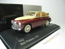 GAZ M20 POBIEDA CABRIOLET 1950 1/43 IXO WHITEBOX (DARK RED/ CREAM)