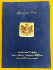 Monaco '99 International Philatelic Exhibition, Blue Velvet Hardbound Catalog