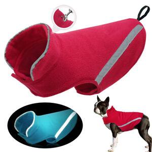 Reflective Dog Clothes Coat Winter Warm Cotton Jacket for Small Medium Large Dog