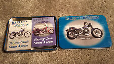 Harley Davidson Springer Softail Playing Cards Collectors Tin 2 pack