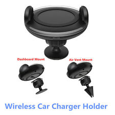 Mini Wireless Car Charger Dock Air Vent Dashboard Mount Holder For Mobile Phone