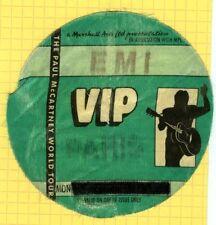 PAUL MCCARTNEY backstage autocollant tissu 1989