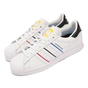 adidas Originals Superstar White Black Red Blue Yellow Men Casual Shoes FY2325