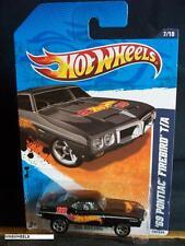 HOT WHEELS 2011 #157 -7 69 PONTIAC FIREBIRD T/A BLAK 5SP AMER 11 CARD