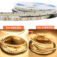 Super Helle 5mm 8mm DC 12V 2835 5M 600LED 1200LED Streifen Strip flexibel Band