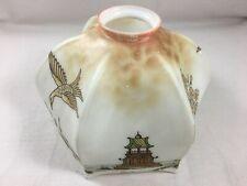 Abat jour Opaline peint Oiseau Fleur pagode Japonisant Ø 17 cm N° 1 / 2