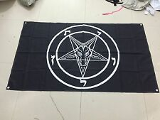 Baphomet Church of Satan Flag Banner Poster - 3 ft X 5 ft - LaVeyan lavey