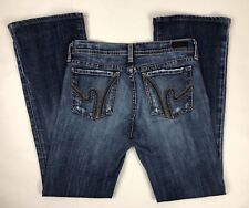 Citizen of Humanity Low Waist Flare Women's Blue Jeans Size 26