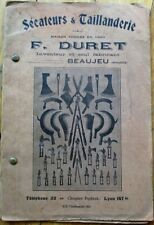 Cutlery, Knives & Clippers 1910 Trade Catalog- F. Duret - Beaujeu, Rhone, France