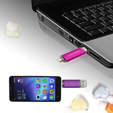 NEW 16GB Pink OTG USB 2.0 Flash Drive Micro-USB Dual Port for Smart Phone Tablet