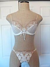 La Perla Studio SWEET HEARTS Ivory Nude Nylon Blend UW Bra 32C  G-String Thong S